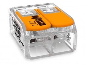 Бърза връзка отваряема WAGO 2х0,2- 4мм2 (100бр. в кутия) за гъвкав/твърд проводник 32А 450V