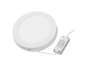 LED панел за външен монтаж, кръг, 18W, SMD2835, топла светлина