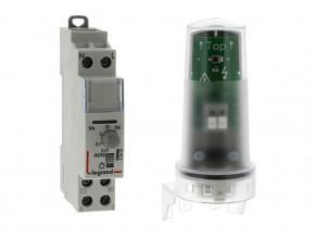 Фотоклетка  DIN  монтаж  1 М  16 А  2000W +  фотосензор  IP65, Legrand