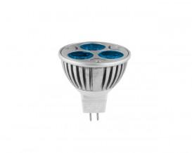 LED луничка 3x1W, димираща, синя светлина