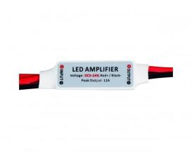 Мини усилвател за едноцветна LED лента, 6A, 5-24V DC, 72W
