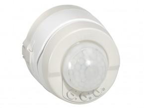 Датчик при движение за ОТКРИТ МОНТАЖ  / таван и стена / 360° 90 м 2  2000W, 1000VA, LED  и ЕСЛ  500W,  диаметър  PIR 8 м при минимум  1.7 м височина , 3  проводен ,  1/1000lx, 12 сек ./16 мин ., IP55,  сив / бял ,  изисква неутрала