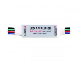 Мини усилвател за RGB LED лента, 6A, 5-24V DC, 72W