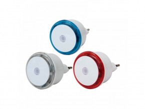 Нощни лампи цветни с датчик  0.8W, 3 бр блистер, GAO