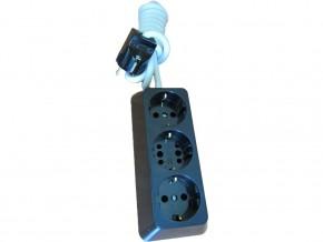 Разклонител 3-ка , трапец ,2м кабел (3X1.5MM) ,черен