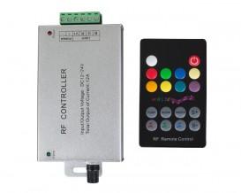 RF музикален контролер за RGB LED осветление, 12A, 12-24V DC, 144W