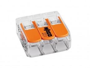 Бърза връзка отваряема WAGO 3х0,2- 4мм2 (50бр. в кутия) за гъвкав/твърд проводник 32А 450V