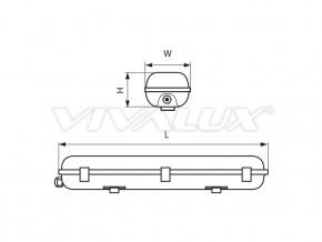 Индустриално осветително тяло JEX PC BASE - JEX PC BASE 222 LED 1200 mm