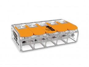 Бърза връзка отваряема Wago 5х6мм2 за гъвкав/твърд проводник 41А 450V