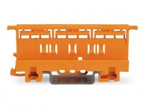 Държач за монтаж на клеми серия 221 - 4мм2 към DIN шина оранжев Wago