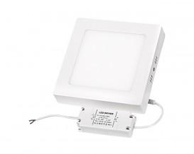 LED панел за външен монтаж, квадрат, 12W, SMD2835, топла светлина