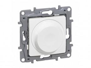 Димер ротативен универсален  5-75/300W  за всички товари  + LED, БЯЛ, LEGRAND NILOE