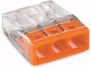 Бърза връзка Wago 3х0,5-2,5 mm2 (100бр.) оранжева за твърд проводник