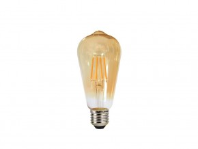 LED lamp FILAMENT E27 4W 2700K 360° ST64 SS Smoke