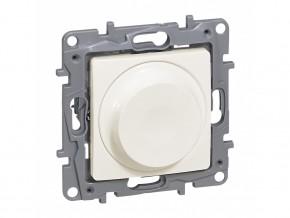 Димер ротативен универсален  5-75/300W  за всички товари  + LED, КРЕМ, LEGRAND NILOE