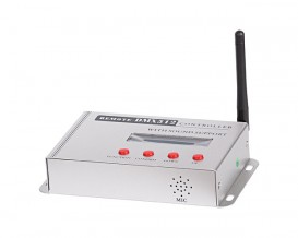 DMX512 RF аудио контролер за RGB LED осветление, 100-240V AC, 5W