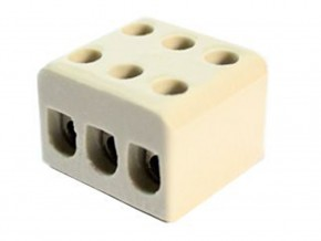Керамични лустер клеми 10А 3 линии