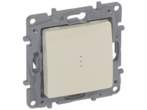 Kлюч за бойлер двуполюсен  16A  светлинна индикация  1/0, КРЕМ, LEGRAND NILOE